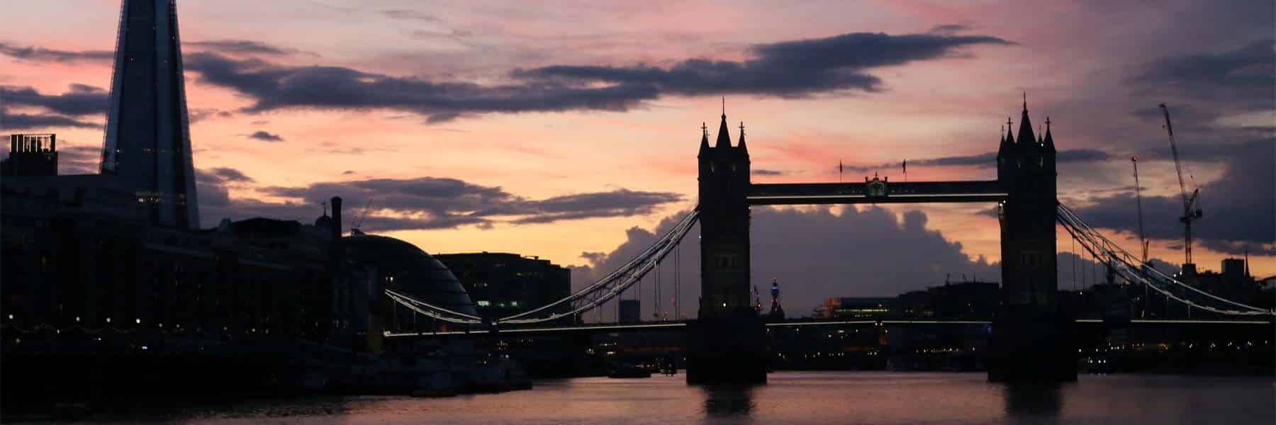 Tower Bridge & the Shard at sunset